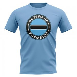 Botswana Football Badge T-Shirt (Sky)