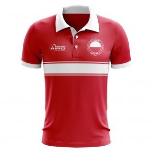 Poland Concept Stripe Polo Shirt (Red)