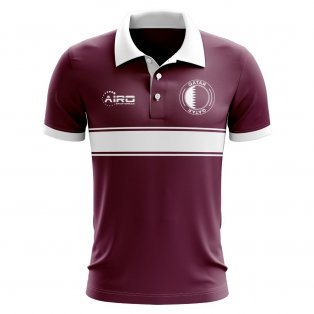 Qatar Concept Stripe Polo Shirt (Maroon) - Kids