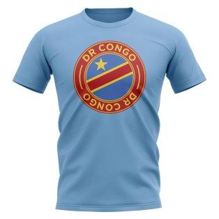 Dr Congo Football Badge T-Shirt (Sky)
