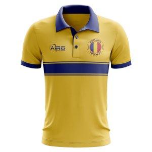 Romania Concept Stripe Polo Shirt (Yellow)