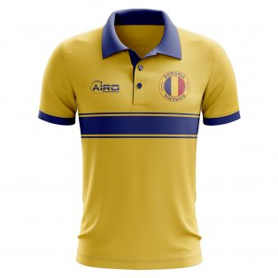 Romania Concept Stripe Polo Shirt (Yellow)
