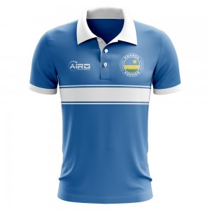 Rwanda Concept Stripe Polo Shirt (Blue) - Kids