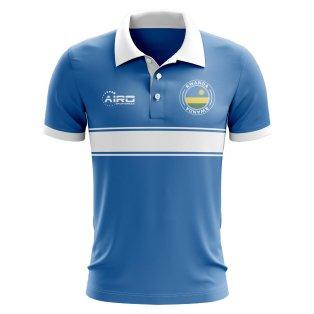 Rwanda Concept Stripe Polo Shirt (Blue)