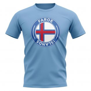 Faroe Islands Football Badge T-Shirt (Sky)