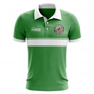 Saint Kitts and Nevis Concept Stripe Polo Shirt (Green)