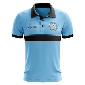 Saint Lucia Concept Stripe Polo Shirt (Sky) - Kids