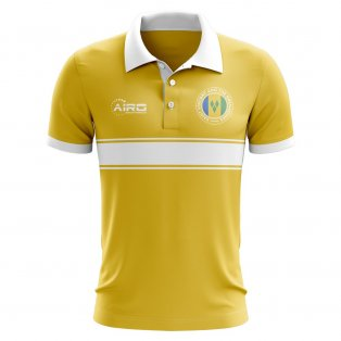 Saint Vincent and The Grenadines Concept Stripe Polo Shirt (Yellow)