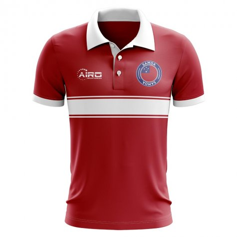 Samoa Concept Stripe Polo Shirt (Red) - Kids