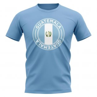 Guatemala Football Badge T-Shirt (Sky)