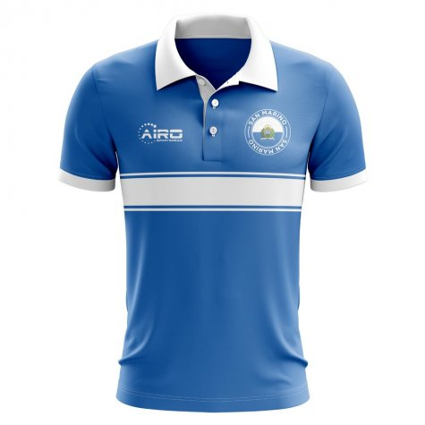 San Marino Concept Stripe Polo Shirt (Blue)