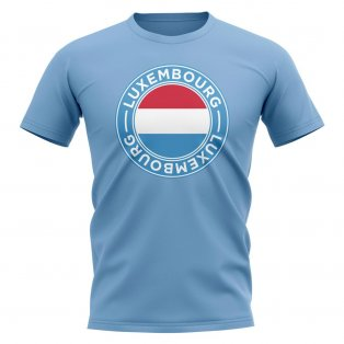 Luxembourg Football Badge T-Shirt (Sky)