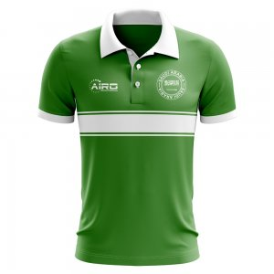 Saudi Arabia Concept Stripe Polo Shirt (Green)