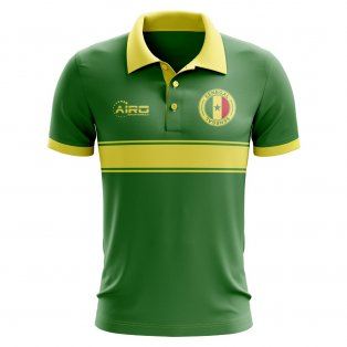 Senegal Concept Stripe Polo Shirt (Green)