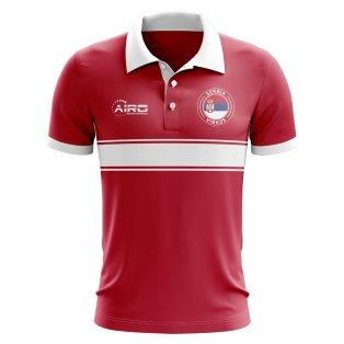 Serbia Concept Stripe Polo Shirt (Red) - Kids