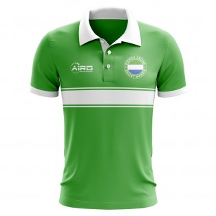 Sierra Leone Concept Stripe Polo Shirt (Green)