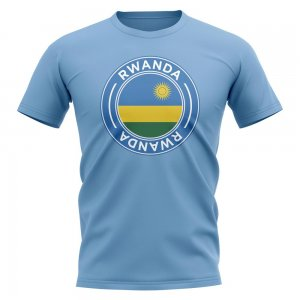 Rwanda Football Badge T-Shirt (Sky)