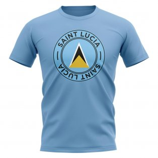 Saint Lucia Football Badge T-Shirt (Sky)