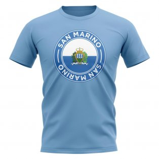 San Marino Football Badge T-Shirt (Sky)