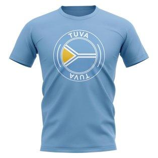 Tuva Football Badge T-Shirt (Sky)