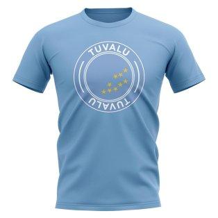 Tuvalu Football Badge T-Shirt (Sky)