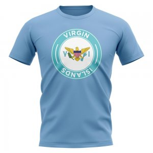 U.S Virgin Islands Football Badge T-Shirt (Sky)