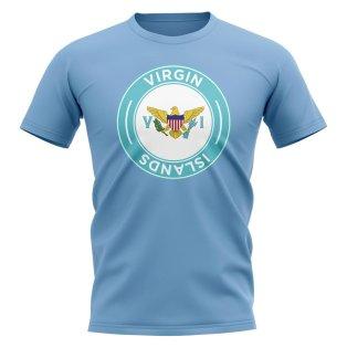 U.S Virgin Islands Football Badge T-Shirt (Sky)