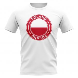 Poland Football Badge T-Shirt (White)
