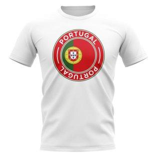 Portugal Football Badge T-Shirt (White)