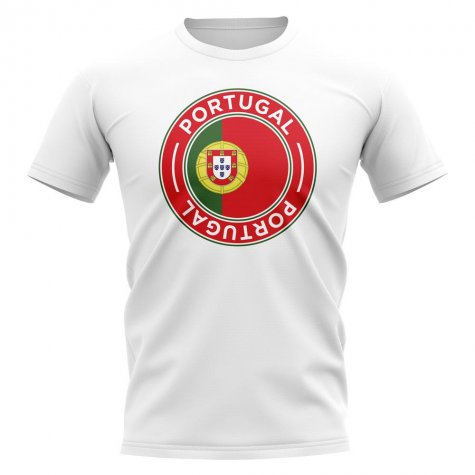 Portugal Football Badge T-Shirt (White)