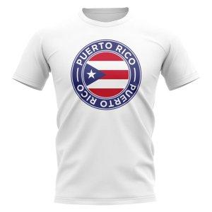 Puerto Rico Football Badge T-Shirt (White)