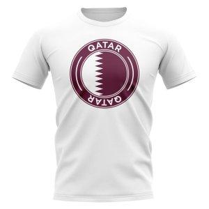 Qatar Football Badge T-Shirt (White)