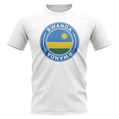 Rwanda Football Badge T-Shirt (White)