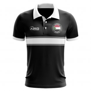 Sudan Concept Stripe Polo Shirt (Black)