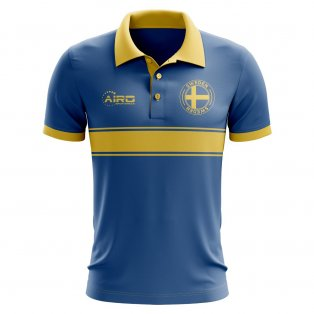 Sweden Concept Stripe Polo Shirt (Blue)