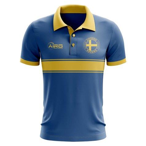 Sweden Concept Stripe Polo Shirt (Blue)