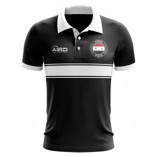 Syria Concept Stripe Polo Shirt (Black)