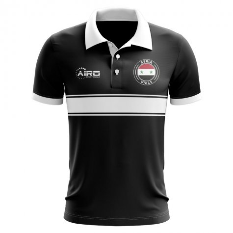 Syria Concept Stripe Polo Shirt (Black) - Kids