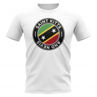Saint Kitts and Nevis Football Badge T-Shirt (White)