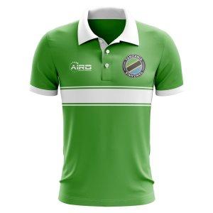 Tanzania Concept Stripe Polo Shirt (Green)