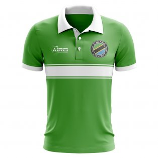 Tanzania Concept Stripe Polo Shirt (Green)