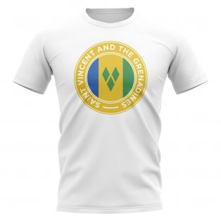 Saint Vincent Grenadines Football Badge T-Shirt (White)