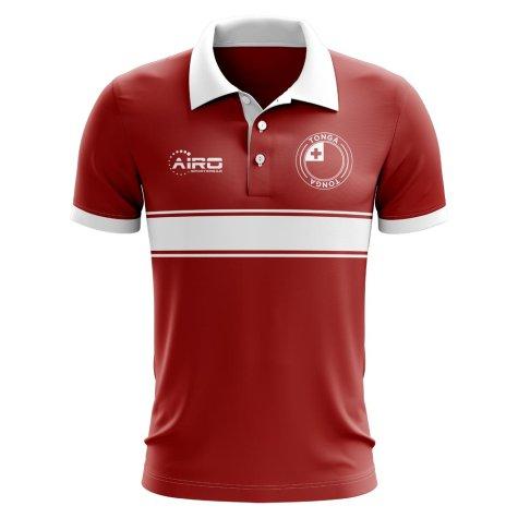 Tonga Concept Stripe Polo Shirt (Red) - Kids