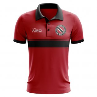 Trinidad and Tobago Concept Stripe Polo Shirt (Red)