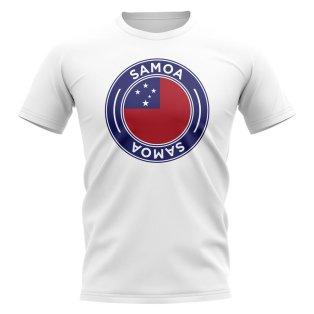 Samoa Football Badge T-Shirt (White)