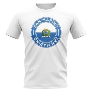 San Marino Football Badge T-Shirt (White)