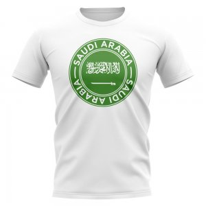 Saudi Arabia Football Badge T-Shirt (White)