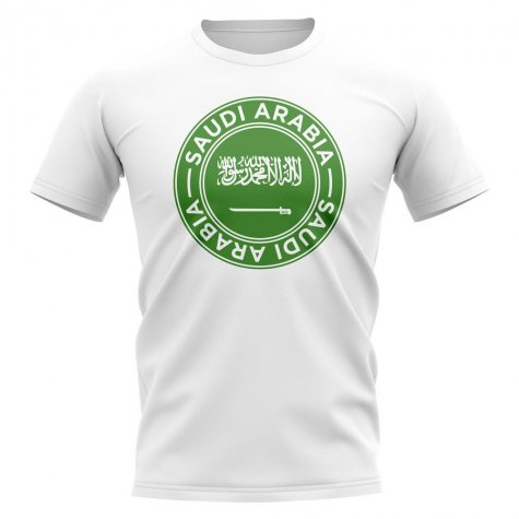 Saudi Arabia Football Badge T-Shirt (White)