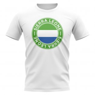 Sierra Leone Football Badge T-Shirt (White)