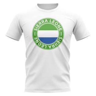 Sierra Leone Football Badge T-Shirt (White)
